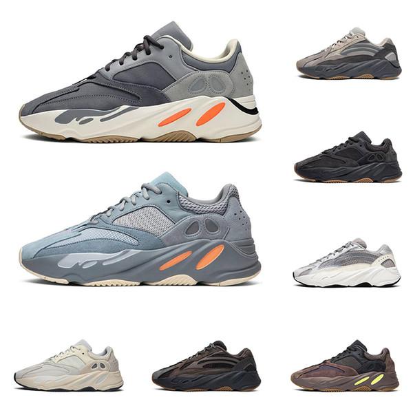 yeezy boost 700 v2 hommes femmes chaussures de course kanye west Magnet Vanta Inertia Wave Runner Utility Noir mens formateur mode sport baskets taille 36-45