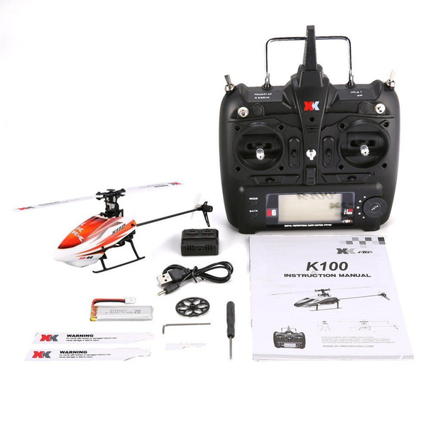 wholesale K110 6CH 3D 6G System Mini Brushless RC Helicopter Drone with Gyro RTF Helicopter Remote Control Toys for Boys