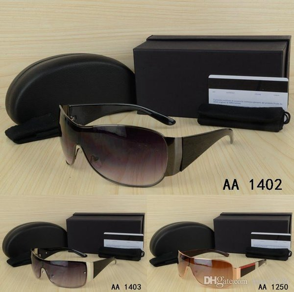 Top Summer Design Big frame Metal hemming Fashion for woman Sunglasses with origianal box eyeglasses Classic Styl Big size sun glasses UV400