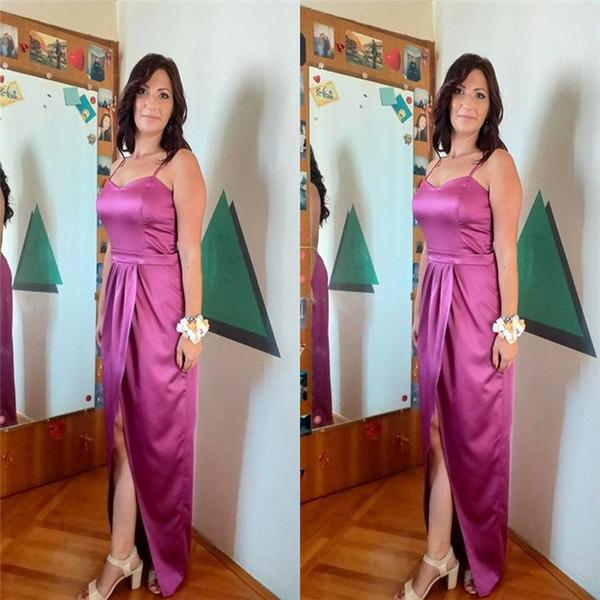 2020 Elegant Satin Mother Of The Bride Dresses Spaghetti Women Formal Dresses Custom Made Evening Wear