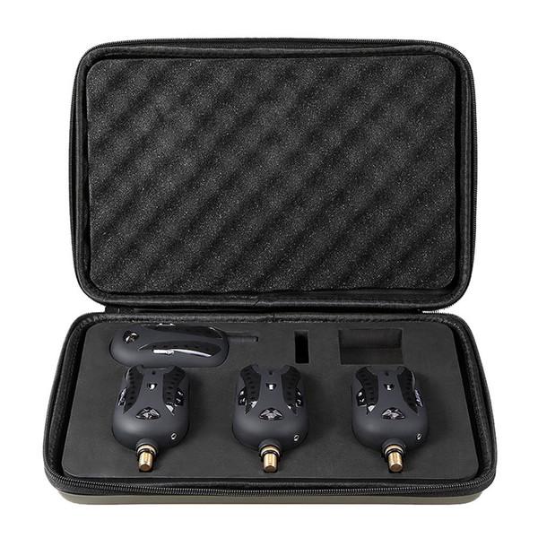 Kit d'alarme pour morsure de pêche 3 alarmes + 1 récepteur Kit d'alarme pour morsure de pêche numérique sans fil avec boîtier portable