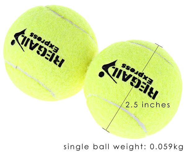 REGAIL 12 pçs / set Alta Elasticidade Treinamento De Tênis Bola Treinamento Esporte Treinamento Bola de Competição