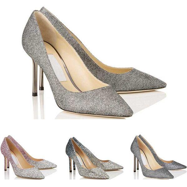 Mulher designer menina saltos altos Romy moda de luxo 8 10 12 casamento Crystal CM vestido do escritório do partido sapatos tamanho 36-42 com saco