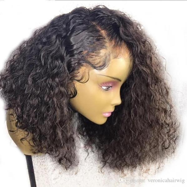 Perruque crépue pas cher pas cher 180% densité 14Inch noir perruque synthétique avant de lacet perruque avec des cheveux de bébé perruques résistant à la chaleur pour les femmes noires
