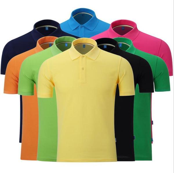 2016 broderie d'été Cheval Polos homme 100% coton polo manches courtes hommes Chemises solide poney shirt homme Camisa T