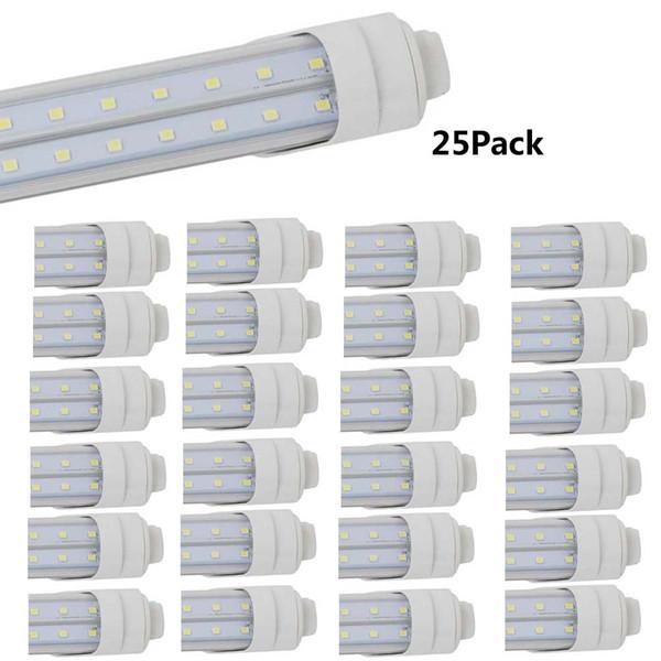 4ft led Tube Light Fixture 36w T8 led Double Row V Shape R17D Clear Cover 3000k 6500k F48T12 HO lamp Fluorescent Light