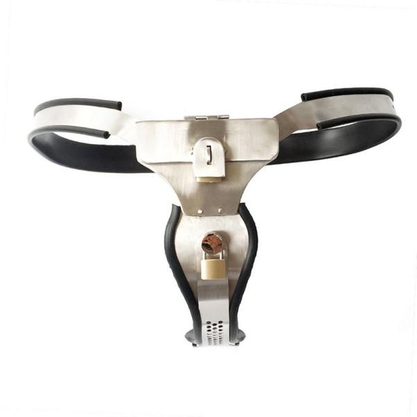 Ceinture de chasteté en acier inoxydable réglable de dispositifs de chasteté pour femmes avec Anal Vagina Plug Sex Bondage BDSM Sex Toys