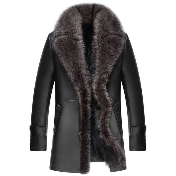 Hiver Mouton Acheter Peau Taille Manteau Hommes Véritable Laveur Fourrure Cuir De Pour Raton La En Plus Veste Chaude ChQsrdotBx