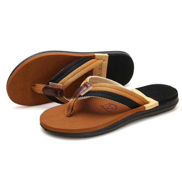 zapatos hombre Men's Fashion Casual Flat Flip Flops Slippers Beach Shoes Outdoor Antiskid Shoes zapatillas chinelo masculina
