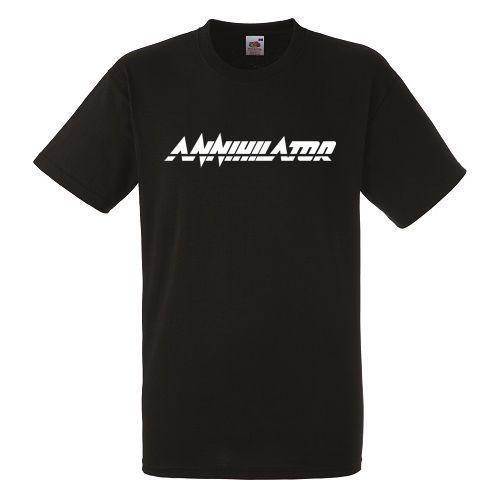 Annihilator Logo Black New T-shirt Rock Band Shirt Heavy Metal Tee Funny free shipping Unisex