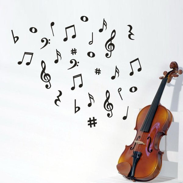Musical Note Wall Sticker Removable Art Vinyl Mural Home Living Room Decor Wall Stickers Drop Shipping