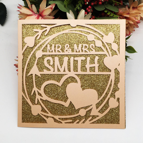 Colors Wedding Invitation Cards Custom Gifts Cards Valentine S Day Theme Party Anniversary Marriage Birthday Party Supplies Wedding Invitation Sizes