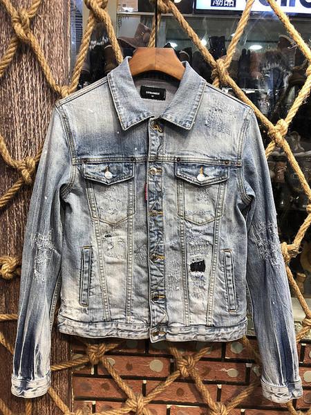 2019 nova moda mens jaquetas de grife de alta qualidade famosa marca homens jaqueta jeans jaqueta de inverno dos homens jaqueta fina lp street wear X18