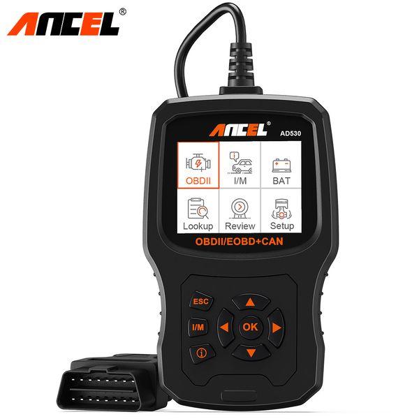 Ancel AD530 OBD2 Automotive Scanner Motor Codeleser Autobatterie Tester Mehrsprachige Diagnose für Renault Citroen OBD