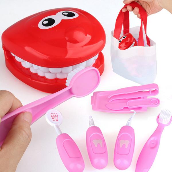 9Pcs d'imitation Jouet dentiste dents Check Model Set Kit médical éducatif Jeu de rôle Simulation Learing jouets pour les enfants Enfants