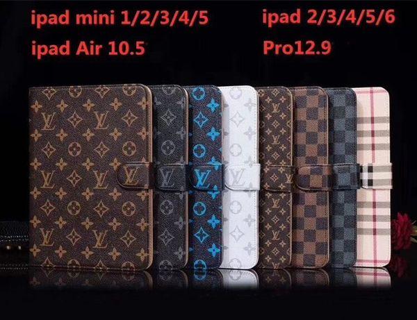 Classique Designer Étui iPad Flip Portefeuille Impression Monogramme En Cuir Pu Tablette PC Cases Pour Apple iPad Pro 12.9