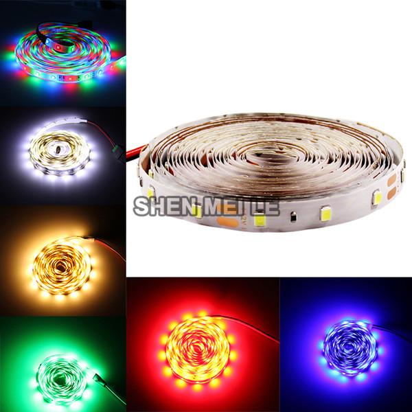 Striscia LED 2835 12v impermeabile Nastro flessibile a diodi led rgb rosso blu verde bianco bianco caldo 5M / rotoli nastro neon
