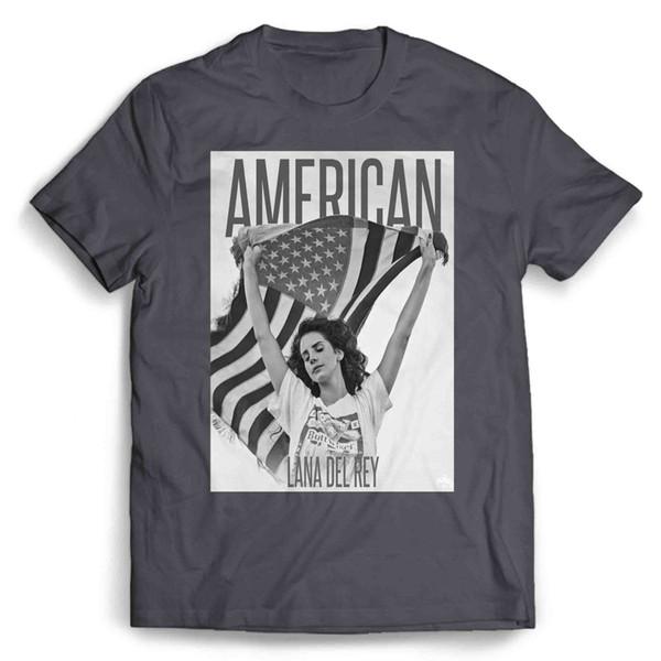 Лана Дель Рей Американский Флаг мужская / женская ФутболкаСмешка бесплатная доставка Мужская Повседневная Футболка топ