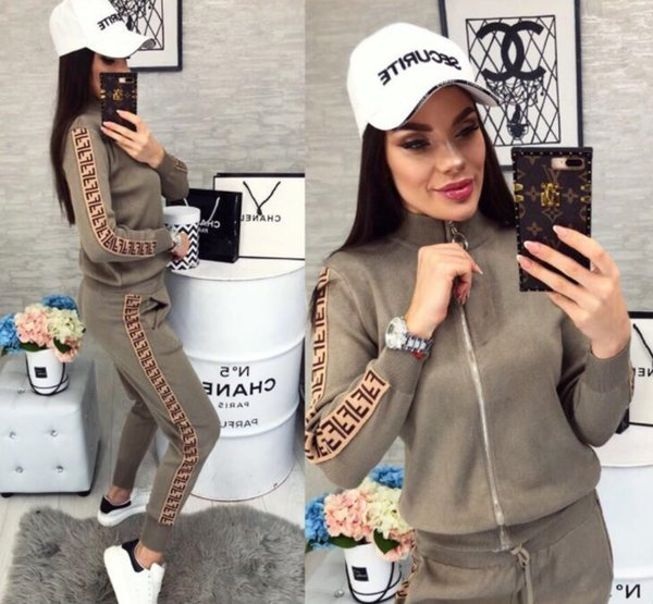 Autumn And Winter Women Long Sleeves Patchwork Tracksuits Lady Fashion Two-piece Set Sports Suit Casual Suits 3 color