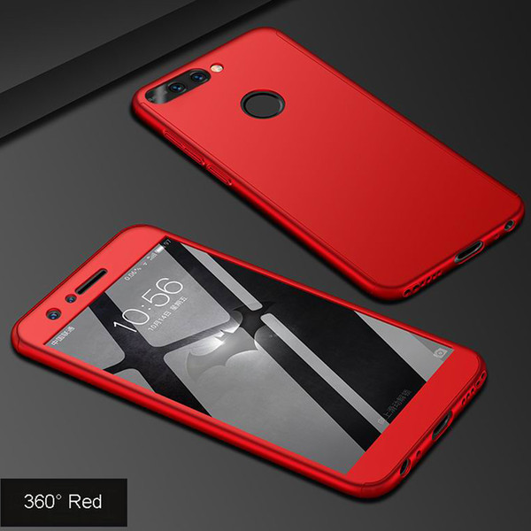 Cheap Fitted Cases 360 Case on for Huawei honor 7a pro Case honor 7a pro Tempered Glass + Slim Thin Hard Full
