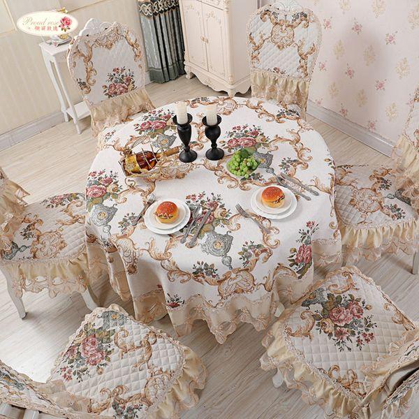 Proud Gül Chenille Masa Örtüsü Avrupa Yemek Masa Örtüsü Koltuk Yastık Kapak Yuvarlak Masa Örtüsü SH190925