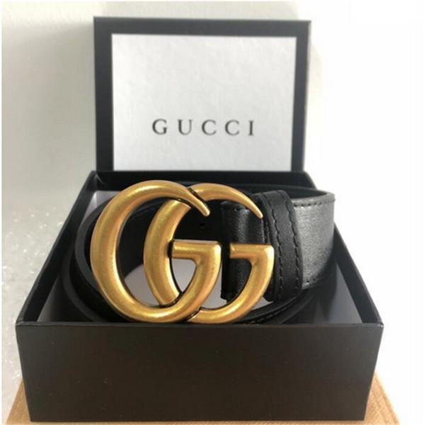 Nouveau 20 Modèle marque ceintures d'hommes et d'affaires en cuir Célèbre luxe hommes ceinture mode grand logo boucle Casual Ceinture Ceinture Taille Sangle Avec boîte