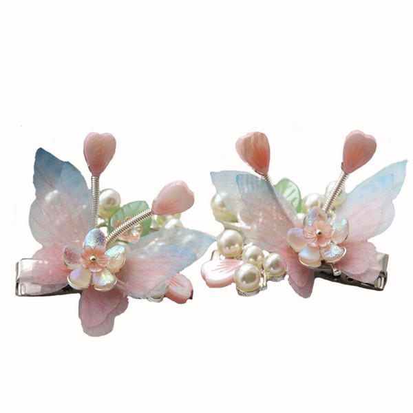 Handmade Fairy Princess Butterfly Hairpin with Tassel Hair Clip Accessories Chinese Traditional Style Hanfu Photograph Prop N1