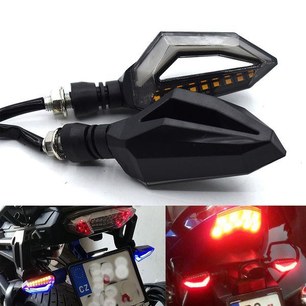 Para motocicleta universal luz de señal de giro que fluye agua LED flash para Yamaha FZ6 FAZER FZ6R FZ8 MT07 MT-07 FZ07 FZ1 FAZER XJ6 MT09