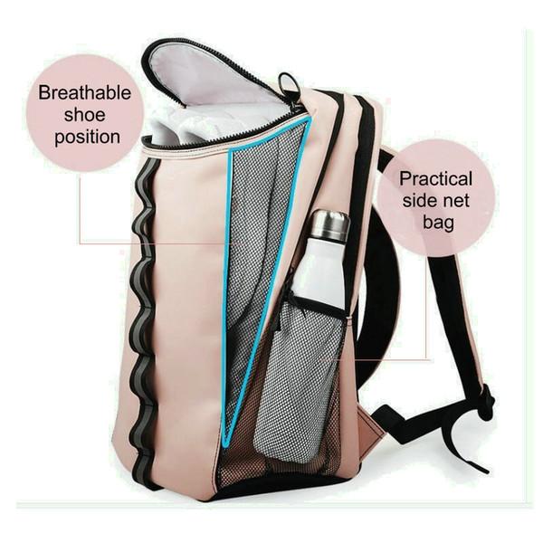 Rosa Sport Sporttasche mit Schuhfach Tasche Frauen Designer leichte Reise Seesack Outdoor Reise Weekender Rucksack Männer