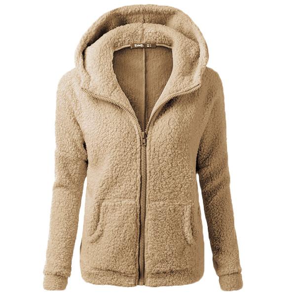 Neue Frauen Plüsch Pullover Jacke 2018 Herbst und Winter sowie Samt Verdickung Damen Jacke lose beiläufige Frauen Tops S-XXXL