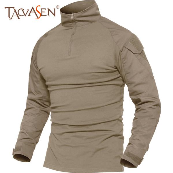 Tacvasen T-shirt Uomo Estate Tattica Tees Soldati T-Shirt Manica Lunga Escursionismo Vestiti Per La Caccia Tee Top Traspirante Maschile 5xl C19041201