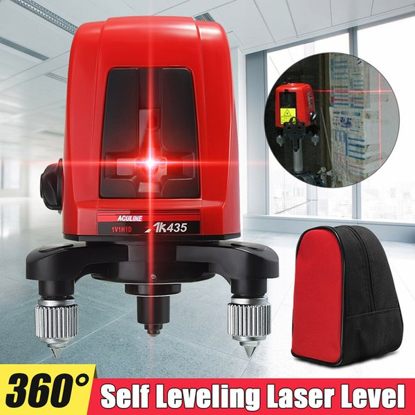 Hot sale Mini Portable 3D Self-Leveling Red Laser Level Device 360 Distance Meter for Laser Line Measure as Construction Tools free shipping