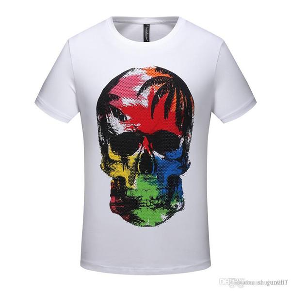 Skull Men Fashion T Shirt Print Comics Supper Hero Summer Raglan Hiphop Tshirt Cotton O-Neck Boys