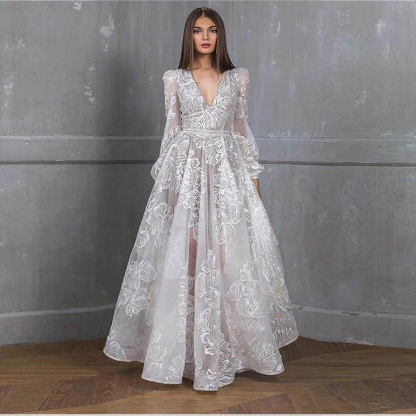 2020 barato de lujo de manga larga de la sirena larga vestidos de baile muchachas negras apliques de encaje de oro barrer de tren cóctel partido formal de los vestidos de noche