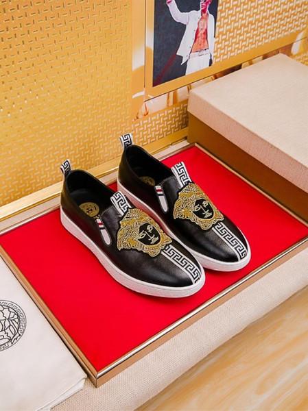 2019r обычай мужская повседневная обувь прилива, спортивная обувь из дикой кожи с низким верхом, оригинальная упаковка коробки доставки 38-45