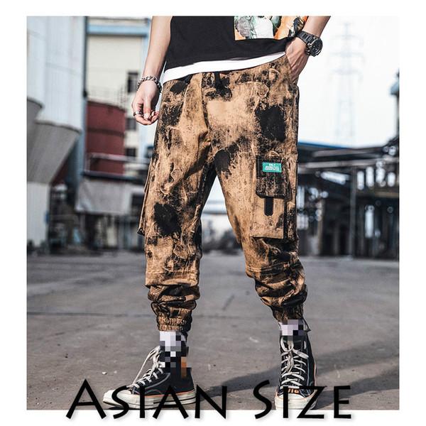 Januarysnow Brand Designer Men Ankle-length Pants Hip Hop Cargo Pants Streetwear Japanese Hip Hop Pants Mens Korean Fashions Joggers
