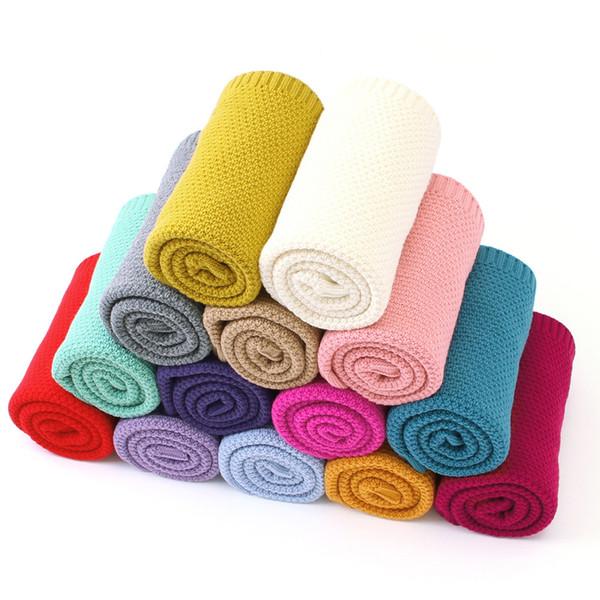 1 pcs Baby Blanket Knitted Newborn Swaddle Wrap Super Soft Toddler Infant Bedding Quilt For Bed Sofa Basket Stroller