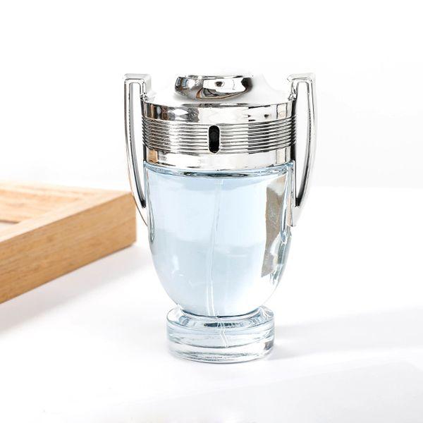 Französisch Duft ungeschlagen Ehrgeiz / tapfere Männer Silberbecher Trophäe 100 ml Parfüm Eau de Toilette Spray für Männer