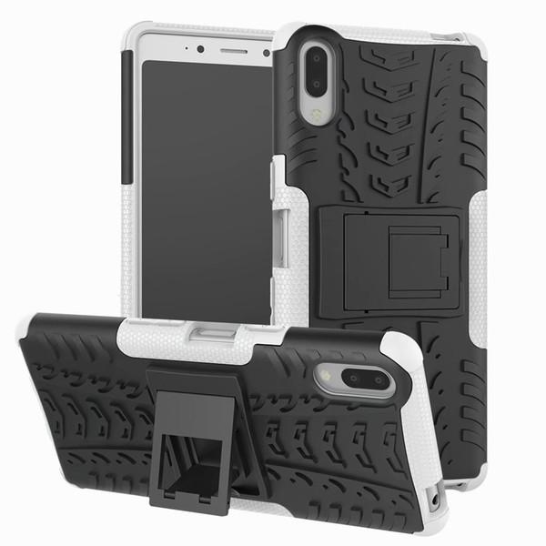 Classical Para Sony L3 Caso stand robusto Combo híbrido Armadura Bracket Impacto Holster capa protetora para Sony Xperia L3