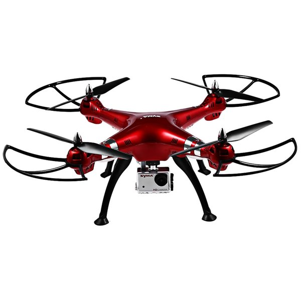 Syma X8HG 8MP Camera 2.4GHz 4CH 6 Axis Gyro RC Quadcopter Barometer Set Height Colorful LED Light RC Helicopters Drone