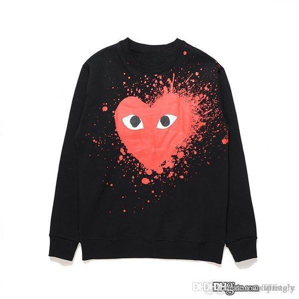 17SS Best Quality HOLIDAY Heart Emoji PLAY sweater T-shirt long sleeved autumn men and women love lovers
