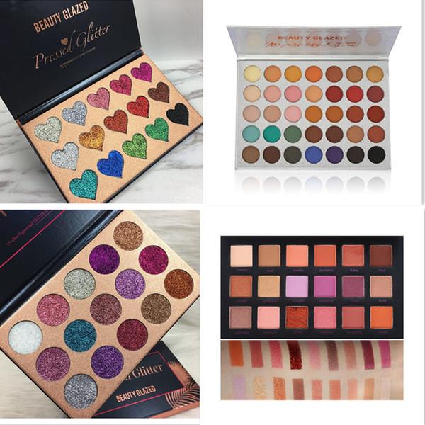 Schönheit Verglaste Makeup Lidschatten-Palette 18 Farben das Wetter Sammlung Mattschimmer Glitter Pigment Eye Shadow Makeup Pallete