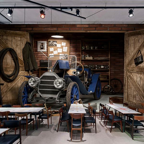 Özel Fotoğraf Duvar Kağıdı 3D Araba Retro Nostaljik Stil Restoran Cafe süt çay Dükkanı Arkaplan Duvar Dekoru Sanat Duvar