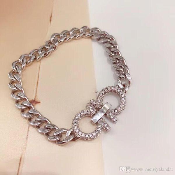 2019 Nouveaux amants Bracelet Charm Bracelet Double D Micro insertion diamant bijoux à la mode de couple à bas prix pour les hommes et les femmes