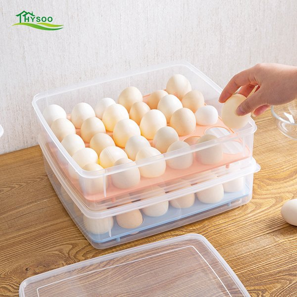 Refrigerator egg box storage box 30 grids Egg storage rack