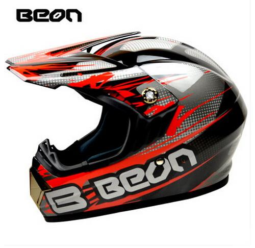 BEON Motocross Helmet, Motorcycle MOTO Electric Bicycle Safety Headpiece Off-road Headgear Head Protective Certificate ECE