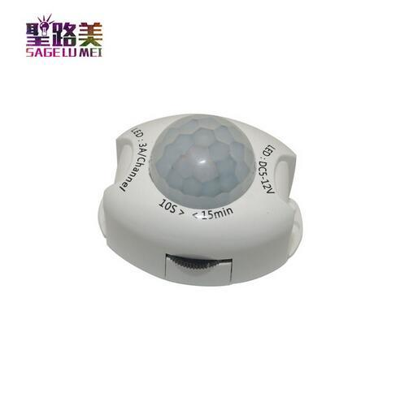 PIR Sensor de movimiento Interruptor de luz DC5V-DC12V Detector de movimiento Temporizador activado Interruptor automático ENCENDIDO APAGADO LED Luz nocturna Lámpara de cabecera
