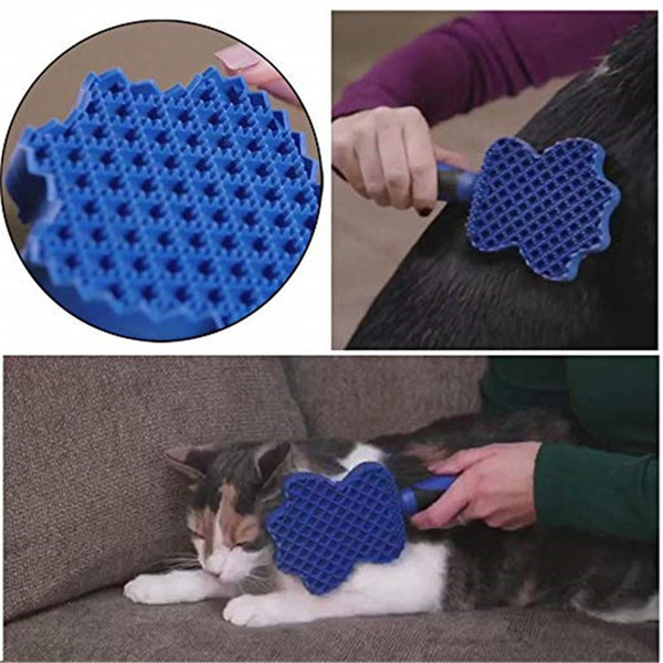 Dog Supplies Pet Soft Comb Cleaning Brush Magic Dog Cat Massage sticky Groom Glider Dog Shedding Hair Brush Professional Grooming Tool