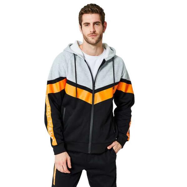 Мужской свитер мужчины дизайнер фитнес с капюшоном осень весна Slim Fit пуловер с капюшоном спортивная одежда Бесплатная доставка