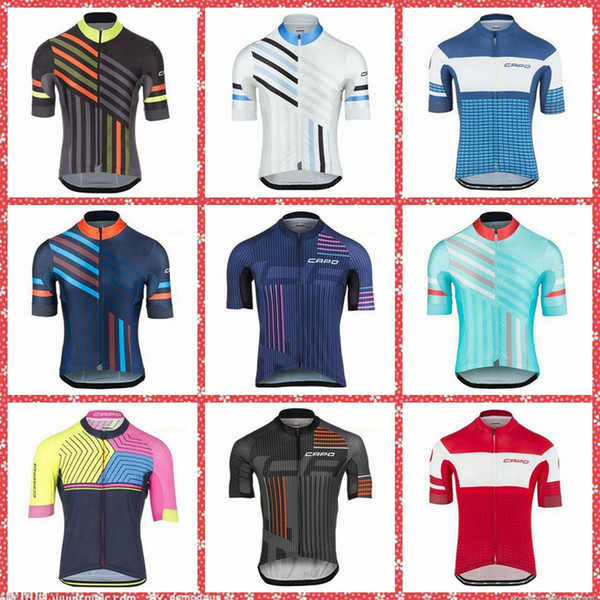 CAPO Team Cycling Short Sleeves jerseyBrand New 9 colors Pro Team Orbea Men's 100% Polyester Sets Quick-Dry Cycle Clothes Mountain Bicycle W